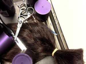 visiting trusted hair salon