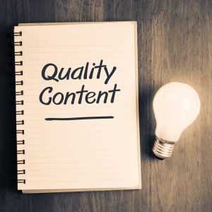 Quality content for your SEO techniques