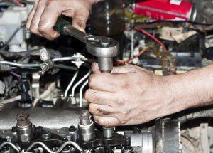 Engine repair close up