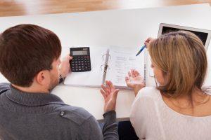 Couple argue about money especially house expenses