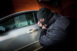A car being stolen
