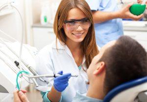 Patient getting dental treatment