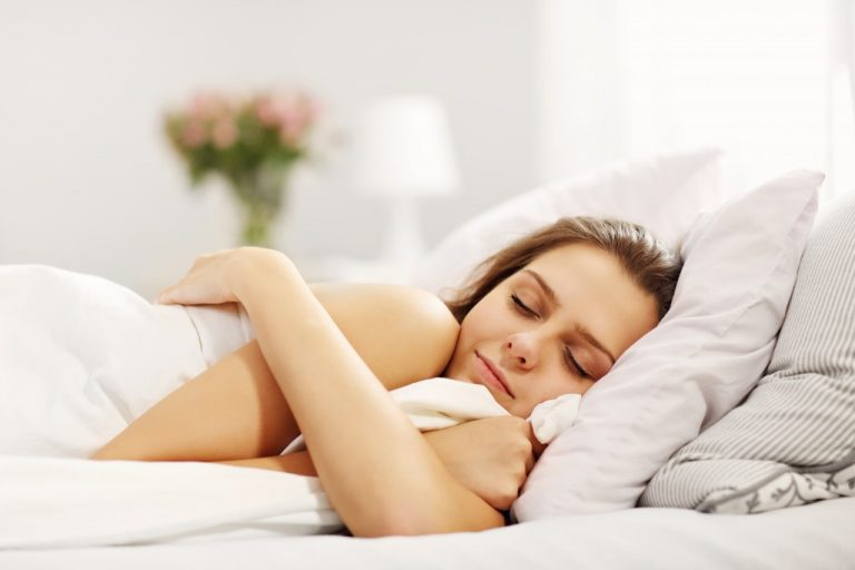 Woman comfortably sleeping