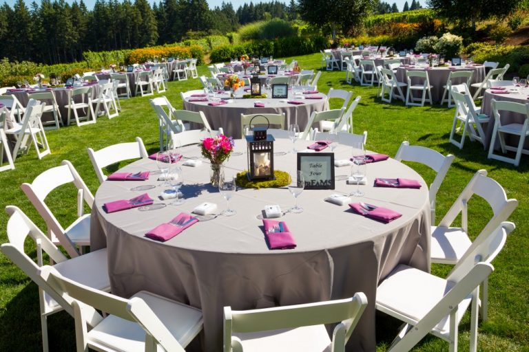 Wedding decors at outdoor reception