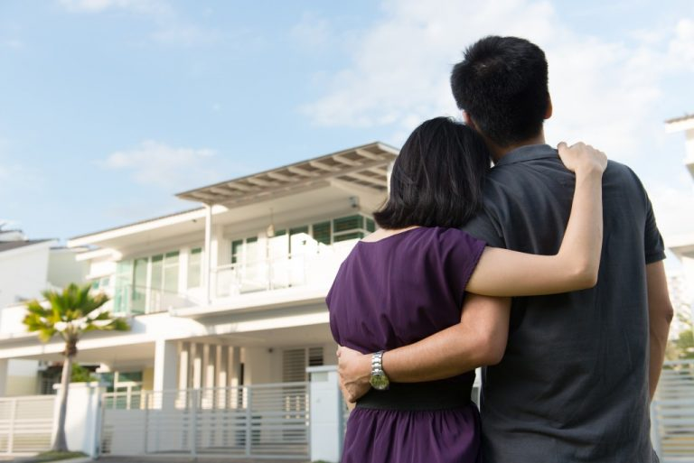 Couple with their dream house
