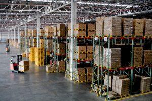 warehouse workers inside big warehouse