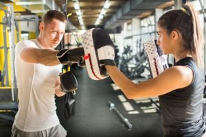 boxing at the gym