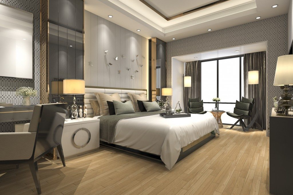 bedroom with theme furniture