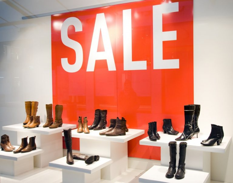 boots on display