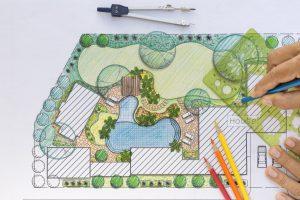 designing a hardscape area
