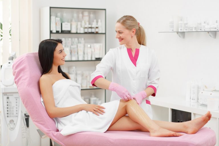 a woman at a beauty clinic