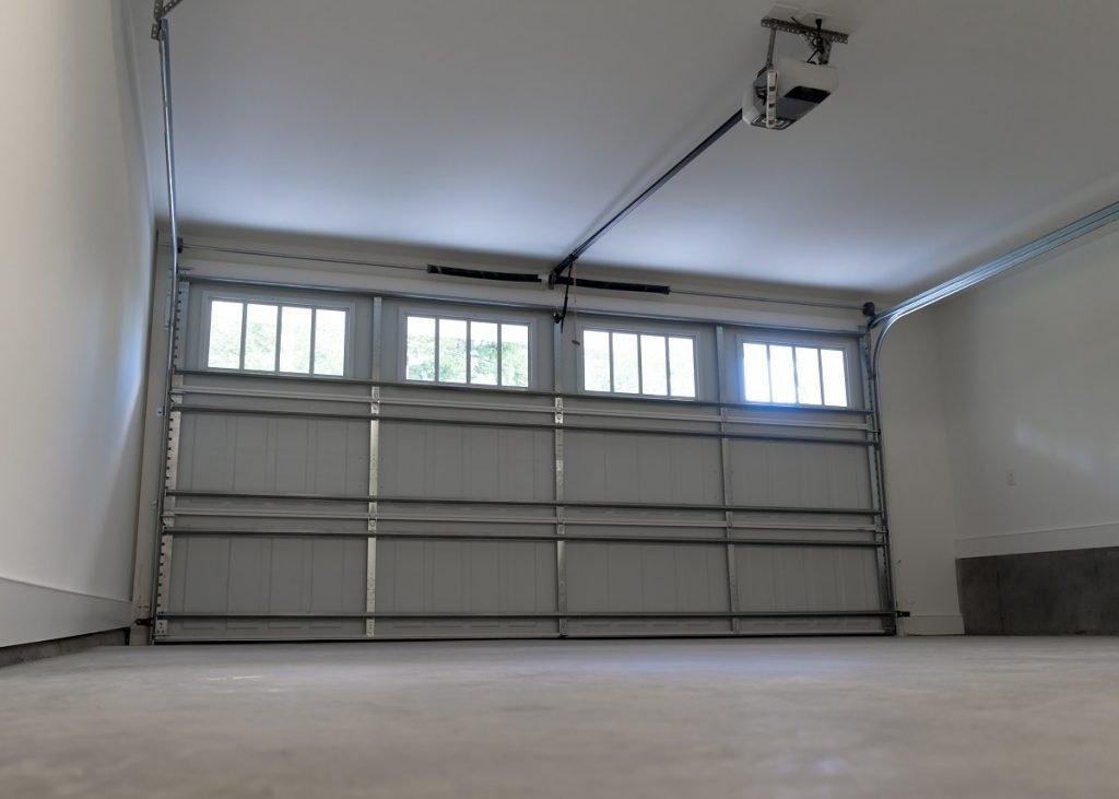 Interior of a garage door