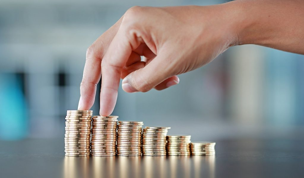 Increasing money concept