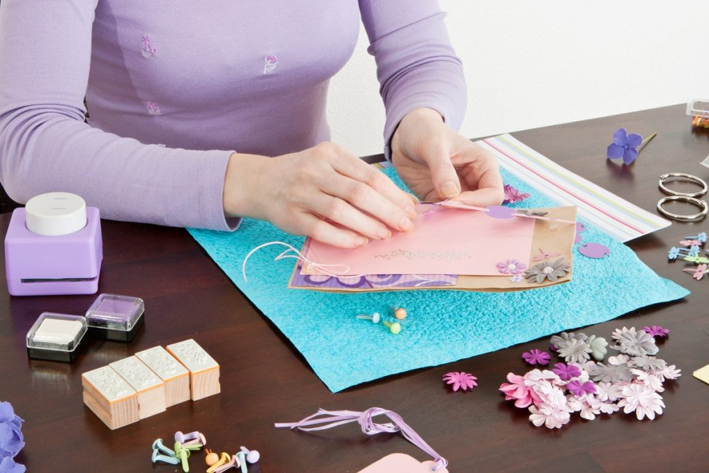 Woman doing crafts