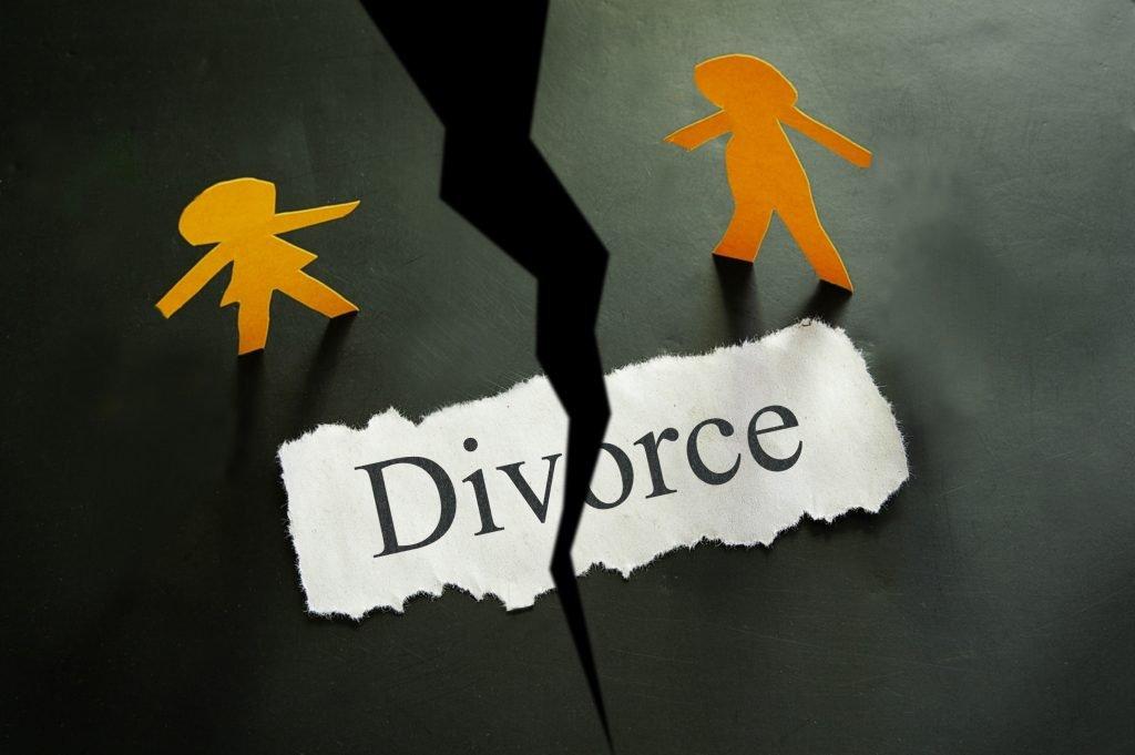 Divorce concept in paper cut out