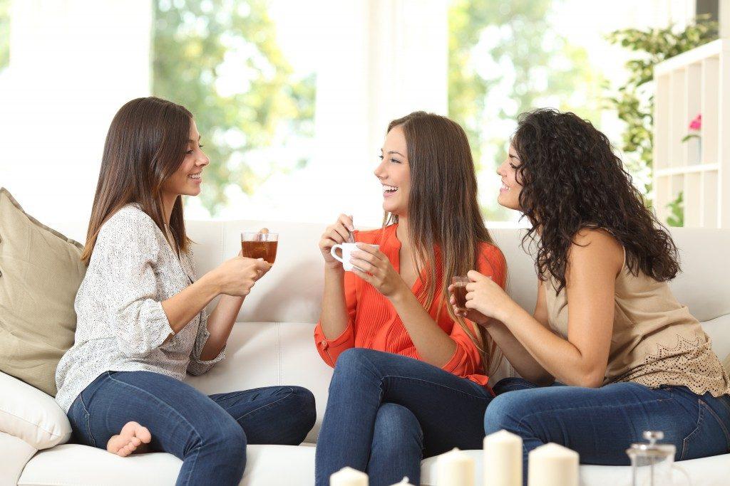Friends having tea