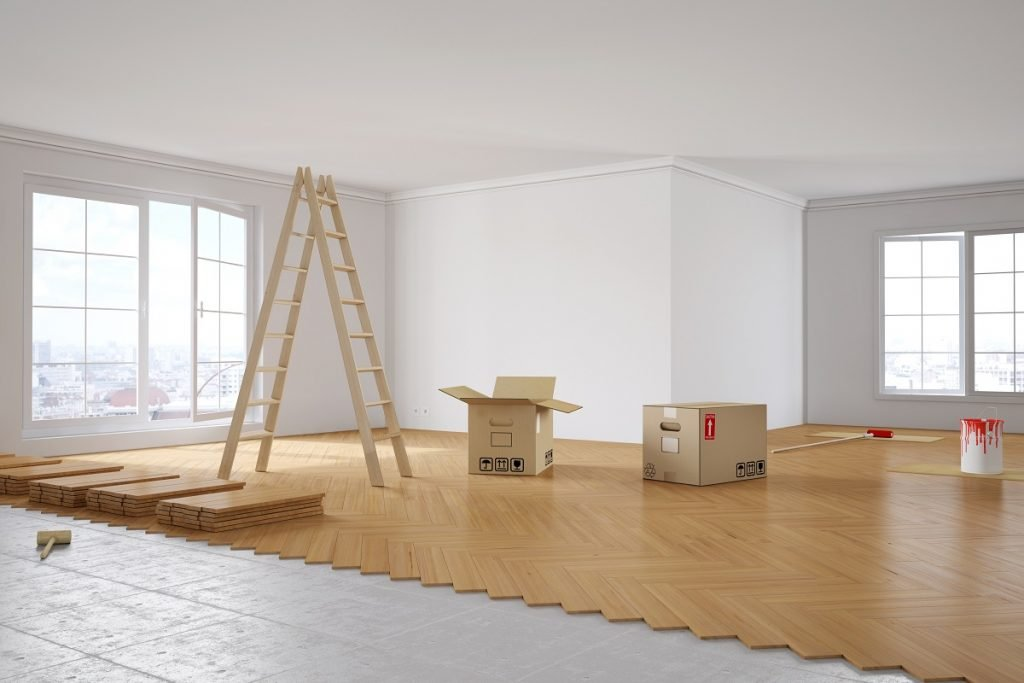wood flooring installed in a home