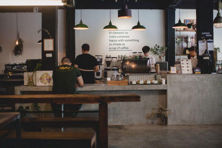 trendy cafe interior