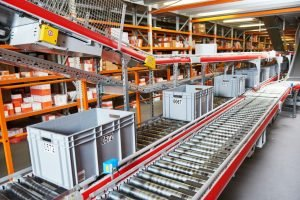 conveyor belt at a factory