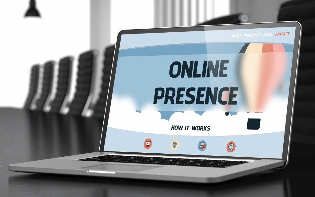 online presence tutorial on laptop