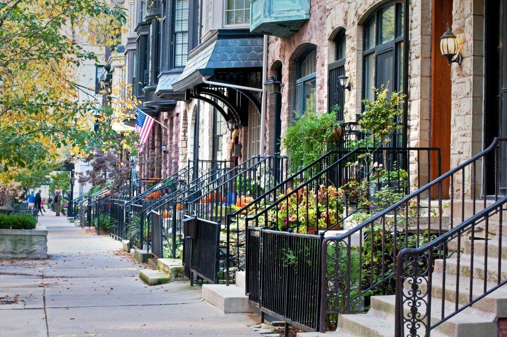 Urban residential street