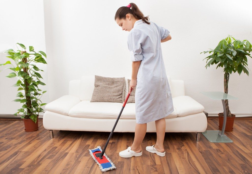Cleaning Floor With Mop