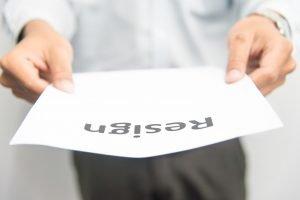 employee handing a resignation letter