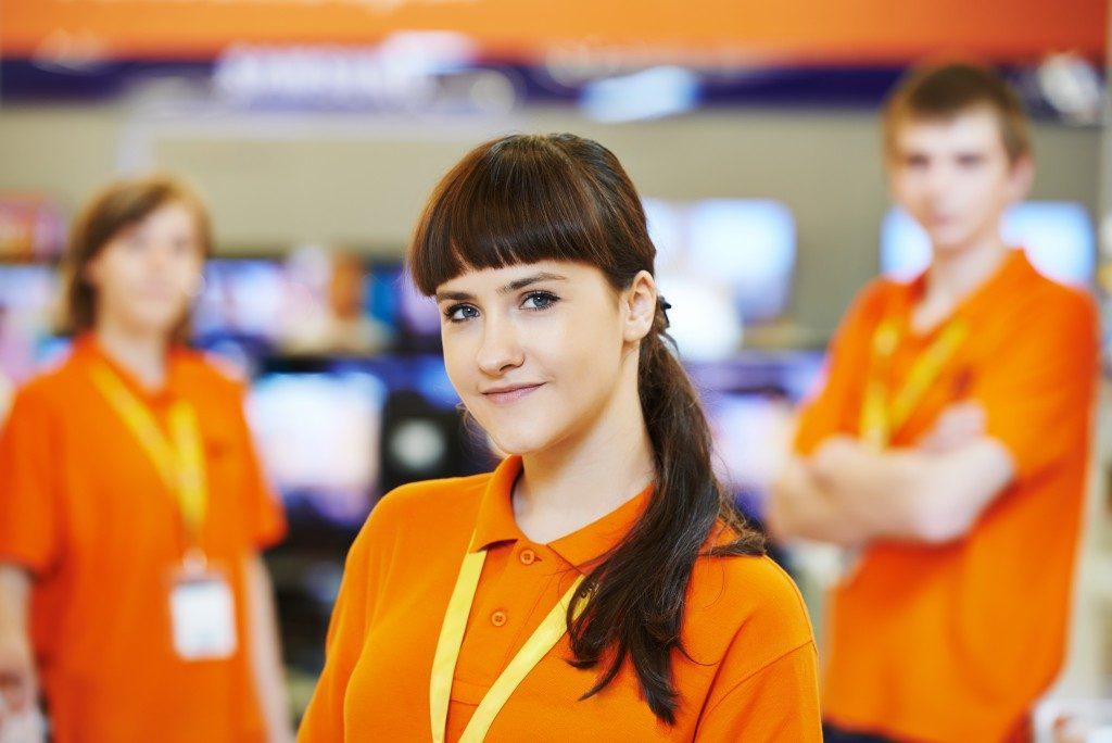 employees in uniform