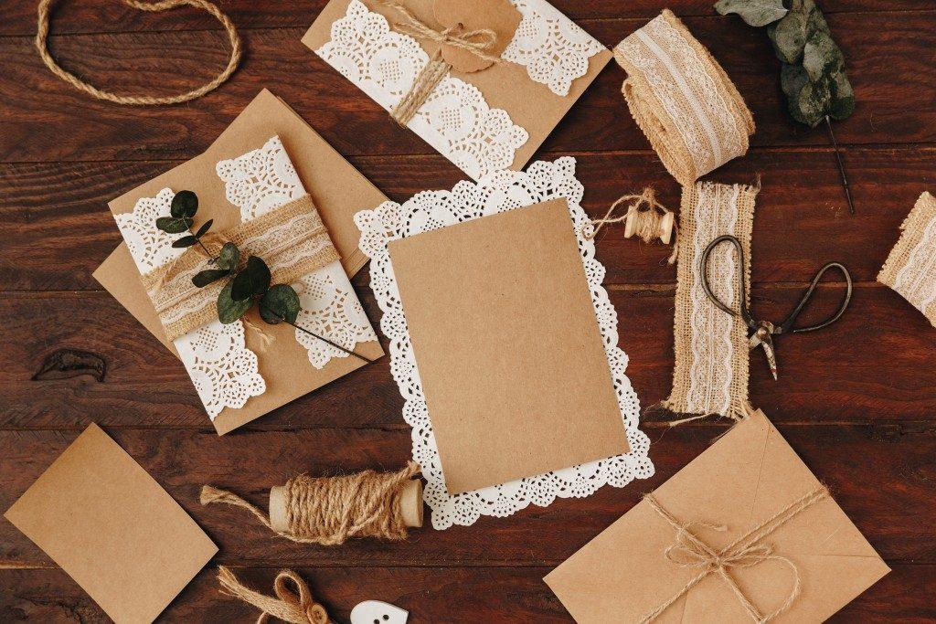 craft materials for invitation