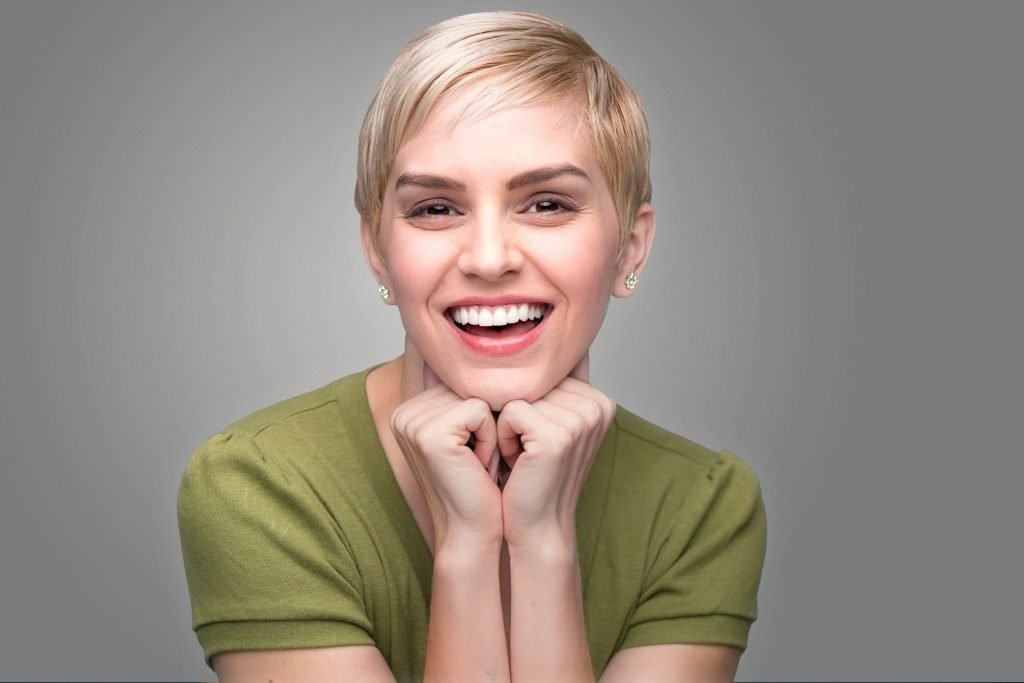 woman with bright smile