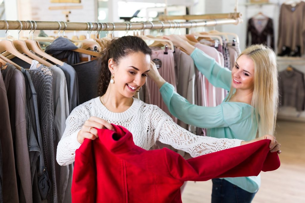 women shopping for clothes
