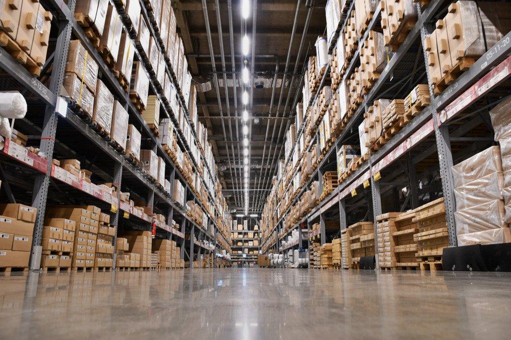 well-lit warehouse