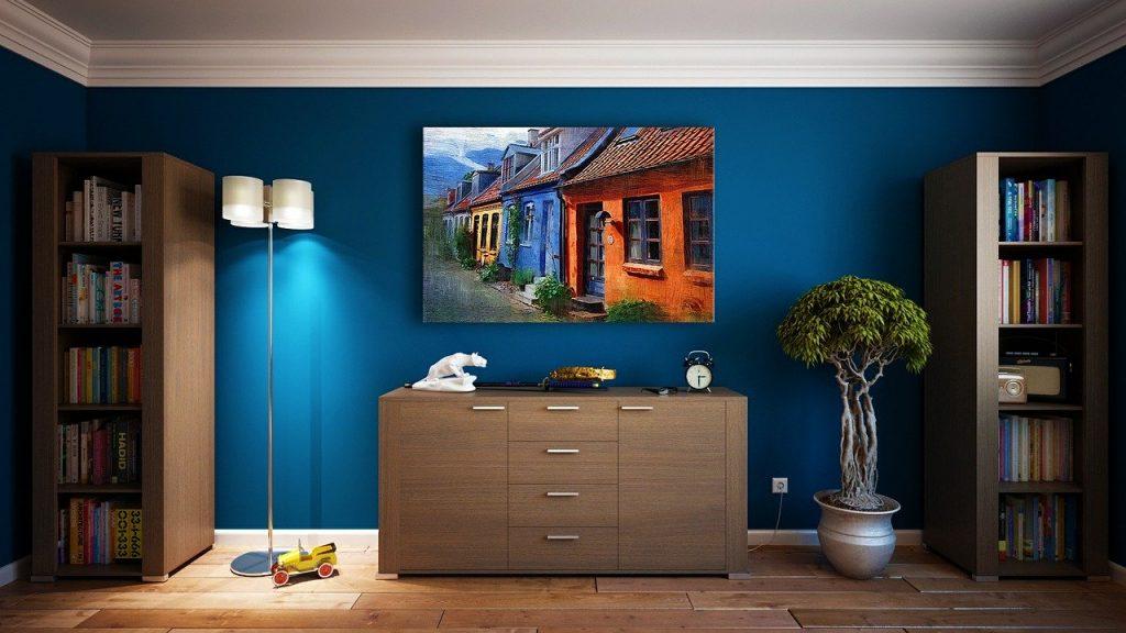 blue theme room