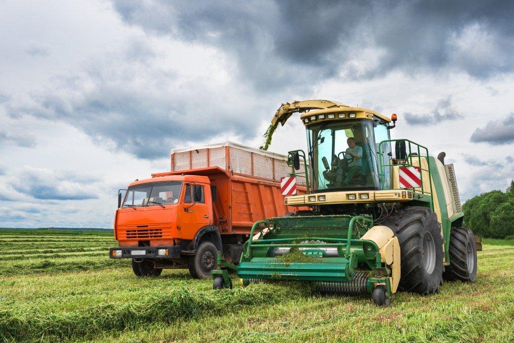 big farming equipment and machines