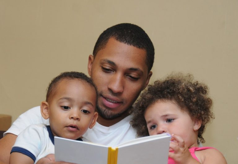 Reading with the children