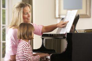 teaching piano lessons