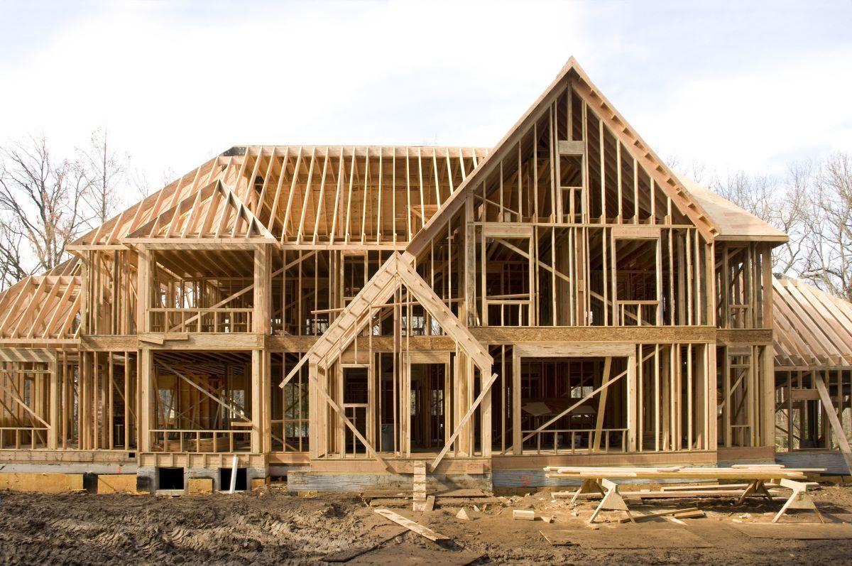 construction house foundation wood