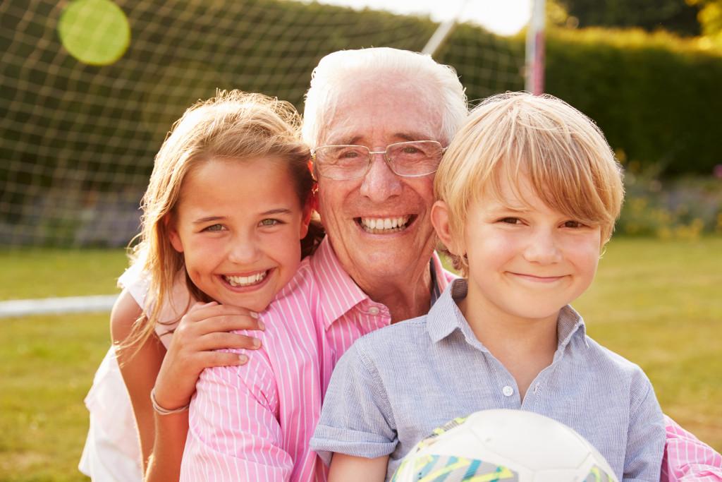 grandpa and grandkids