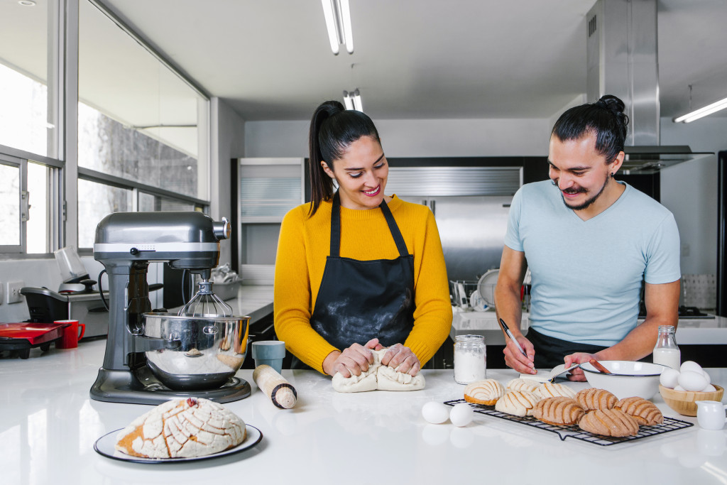 couple with a stand mixer